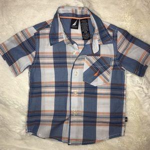 Boys Nautica button down shirt